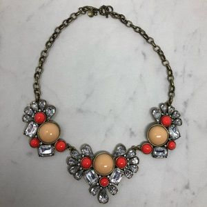 J. Crew Coral Statement Necklace